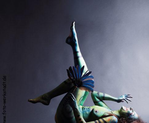 Körpermalerei: Lebensfreude und Verwandlung